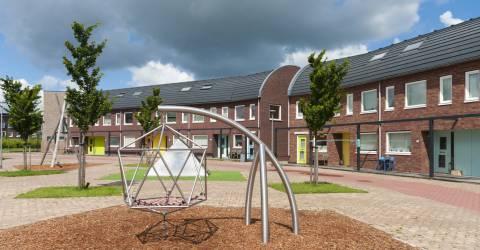 Woonwijk met speelplaats