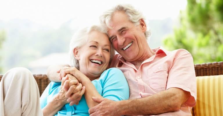 gelukkig ouder stel